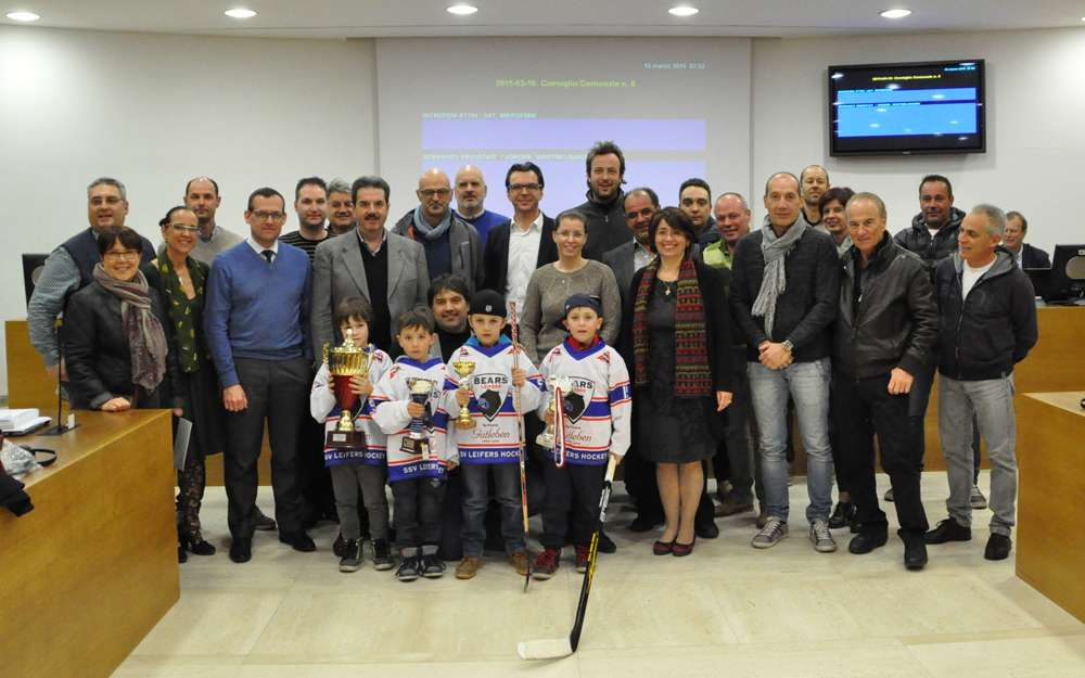 Il Comune ha riconsegnato i trofei all´Ssv Leifers Hockey